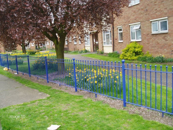 Mild steel Humber style vertical bar railings