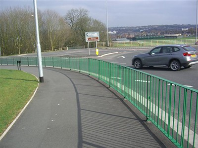 galvanized and polyester powder coated mild steel Optirail Pedestrian Guardrail