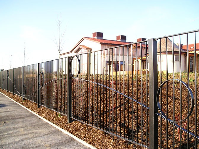 Decorative steel railings for improved security and child Decorative railings