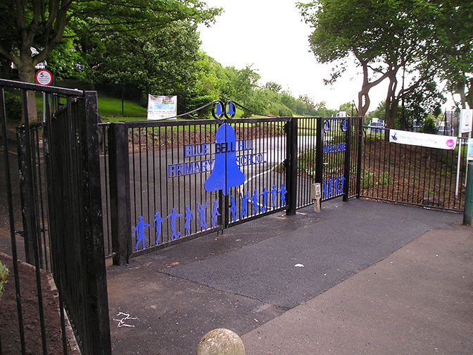 galvanized and polyester powder coated mild steel gates which are compliant with BS 1722 Part 9