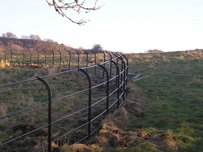 Powder Coated Steel Railings For Historic Derbyshire Parks
