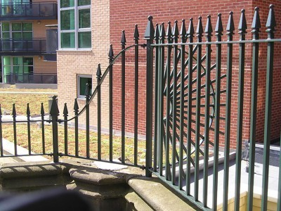 galvanized and polyester powder coated mild steel decorative railings which are complaint to BS 1722 Part 9.