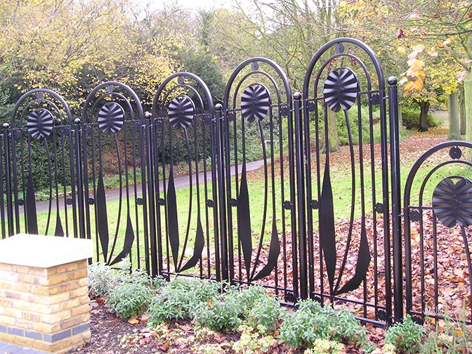 decorative steel railings with poppy design netteswell. Black Bedroom Furniture Sets. Home Design Ideas