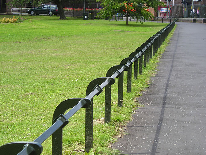 galvanized and polyester powder coated mild steel trip rail