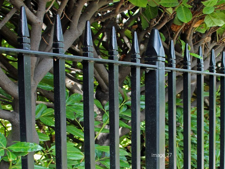 mild steel galvanized and powder coated westminster style railings