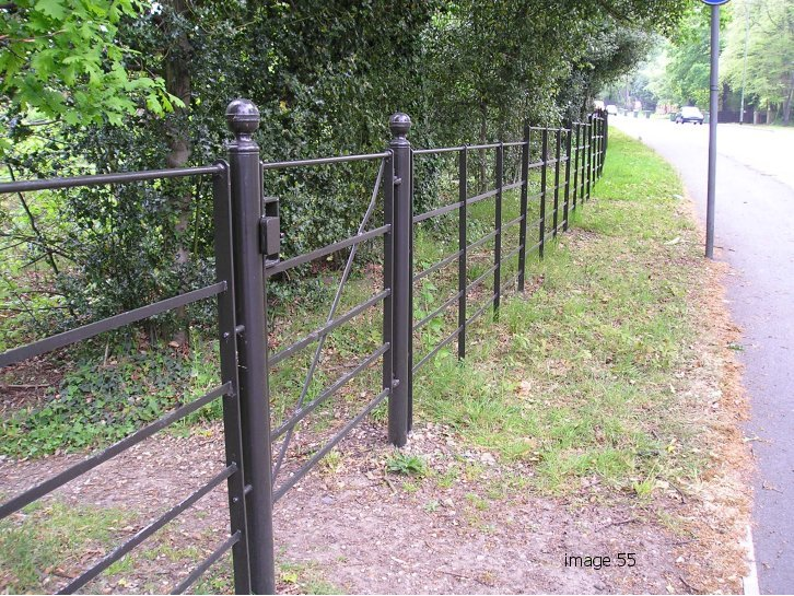 mild steel galvanized and powder coating estate fencing Gate