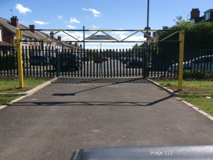 Mild steel galvanized and painted height restriction barrier