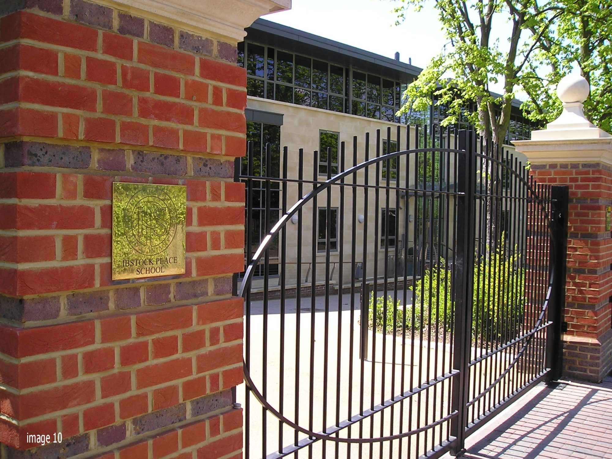 Galvanised and powder coated mild steel vertical bar railings and gate