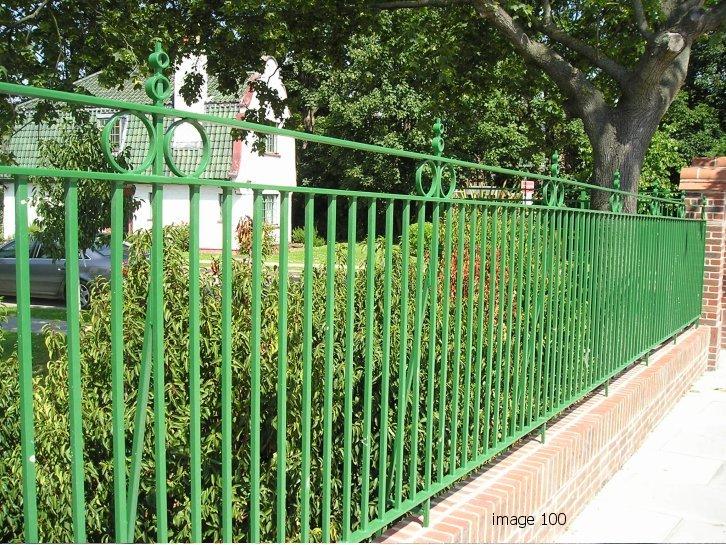 Mild steel vertical bar railings