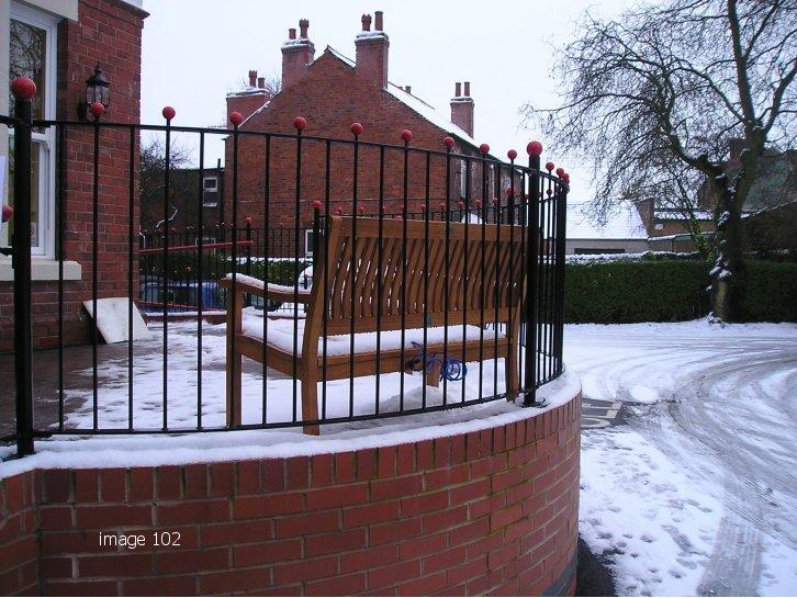 Bespoke vertical bar railings