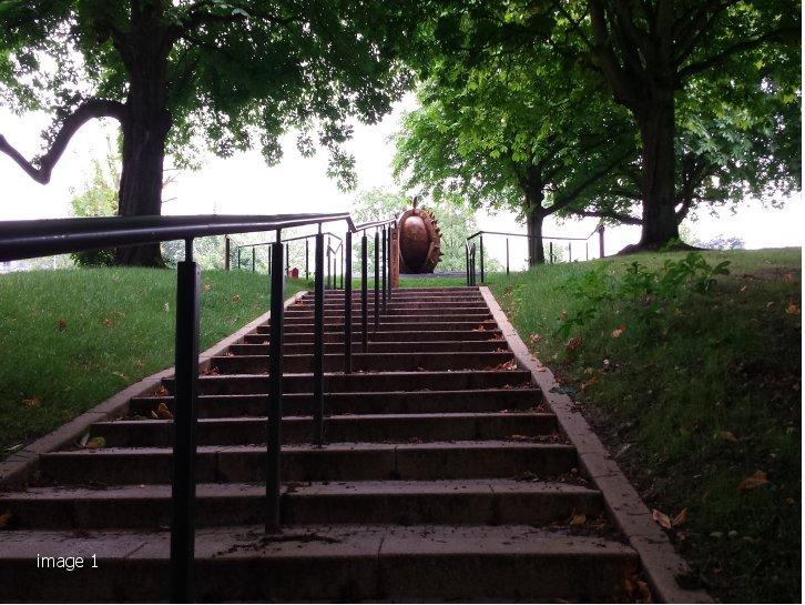 Mild steel galvanised and powder coated handrails