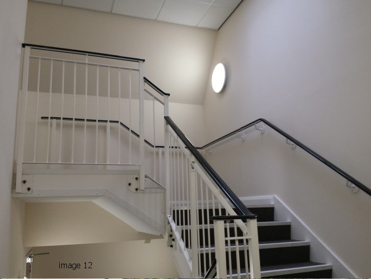 Handrails for internal stair core