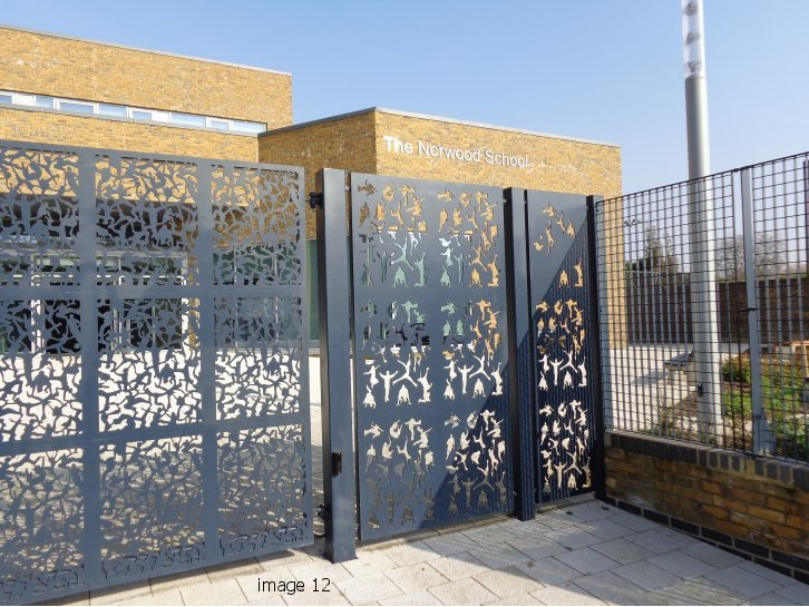 Bespoke mild steel gate with laser profiling
