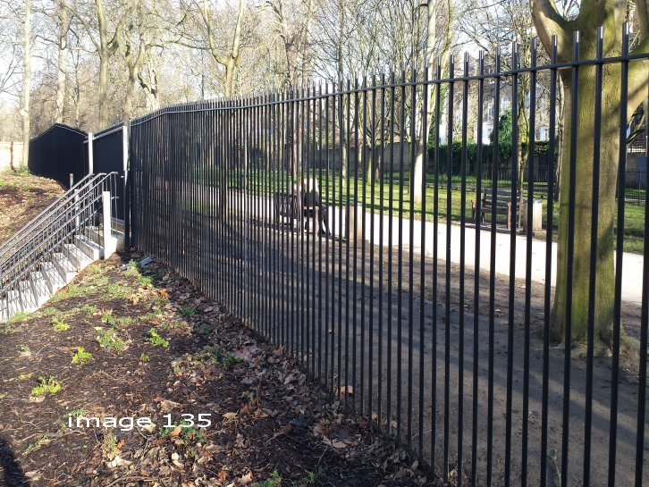 mild steel galvanized and powder vertical bar railings