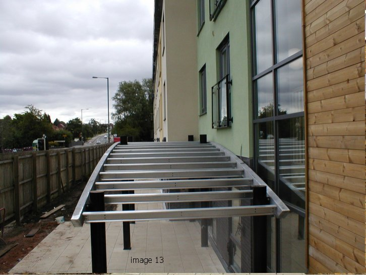 mild steel galvanized canopy