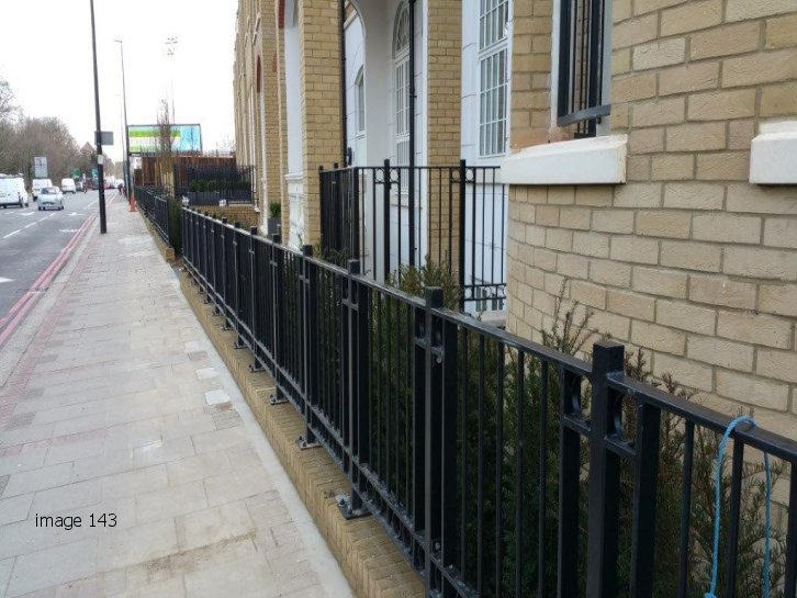 galvanized and powder coated mild steel decorative flat top railings