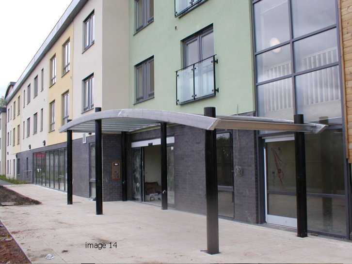 mild steel galvanized canopy to extra care home