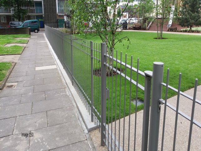 galvanized and powder coated mild steel decorative vertical bar railings
