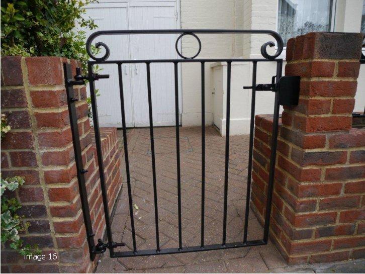 Mild steel galvanised and powder coated single leave gate