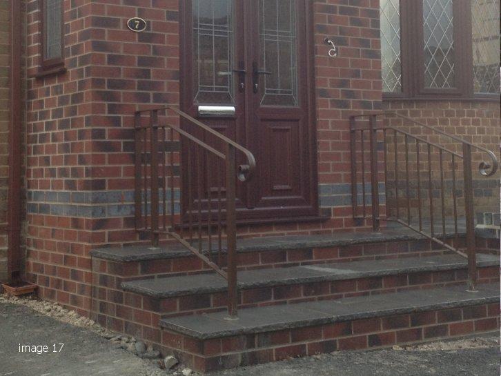 Mild steel galvanised and powder coated handrail