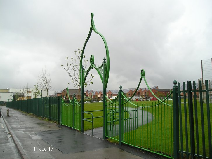 mild steel decorative archway and railing panels