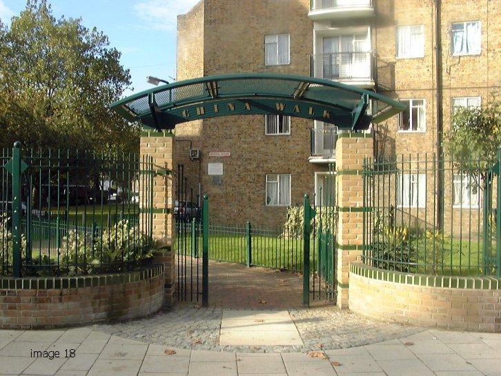 bespoke metal archway
