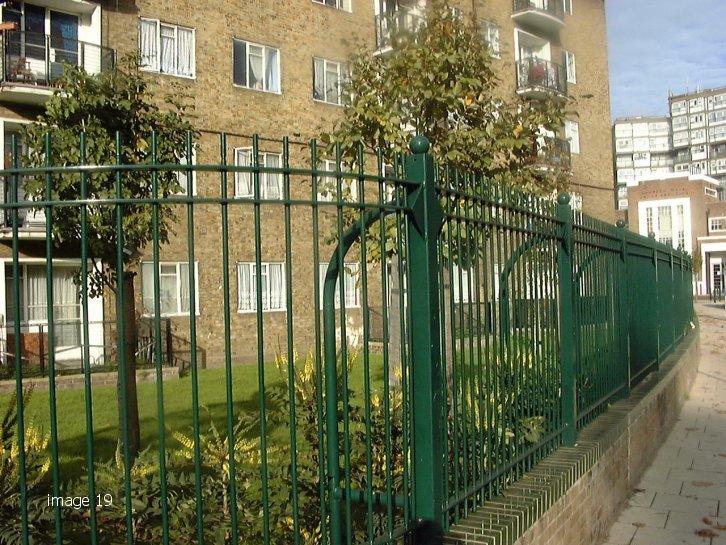 mild steel galvanized and painted decorative railings