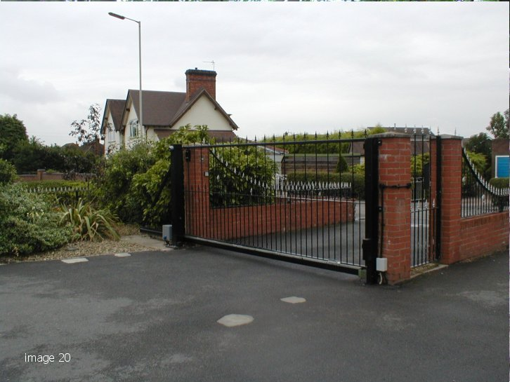 Galvanised and powder coated decorative gate