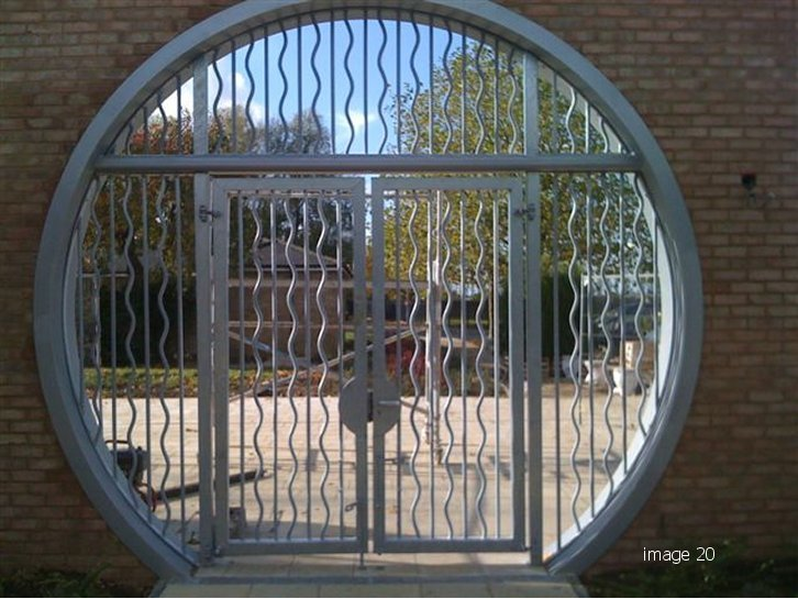 Decorative mild steel gate