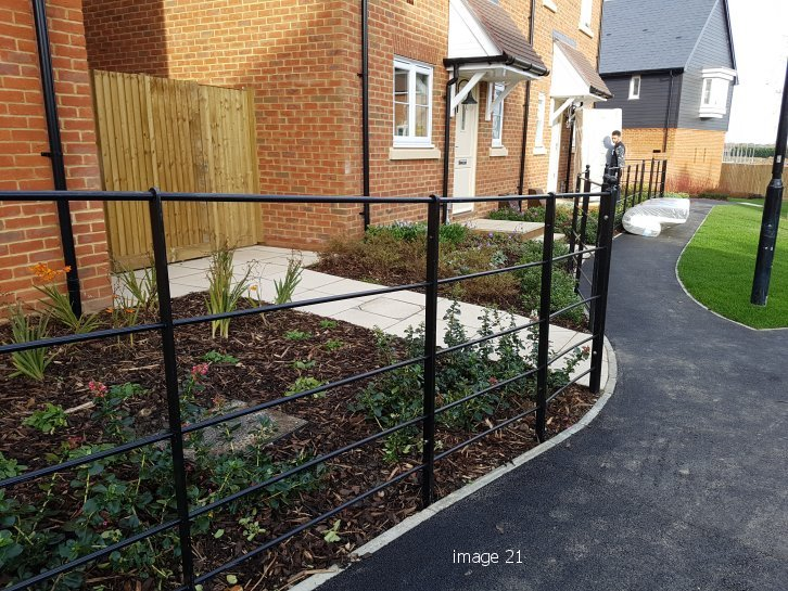 metal estate fencing