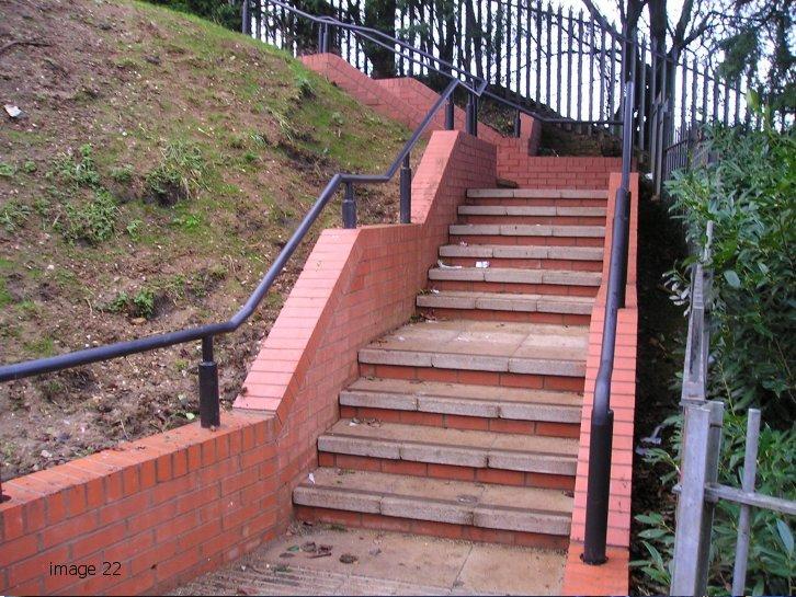 Galvanized and powder coated mild steel handrail