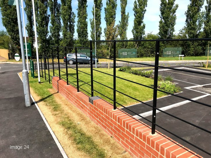 galvanized and powder coated Estate Railings
