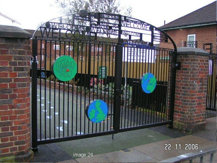 bespoke metal school gates