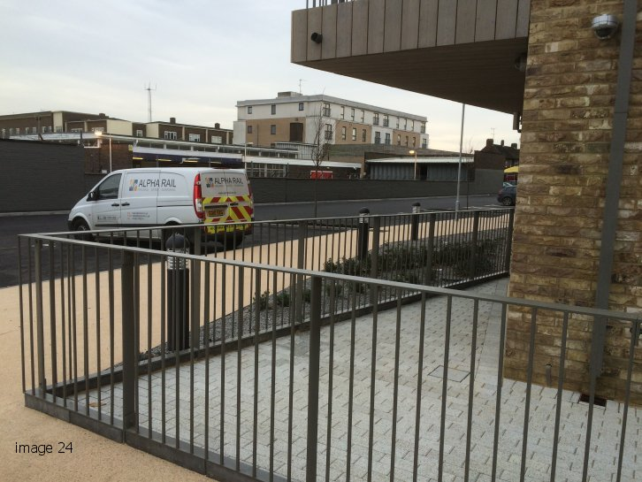 mild steel galvanized and powder coated flat top railings