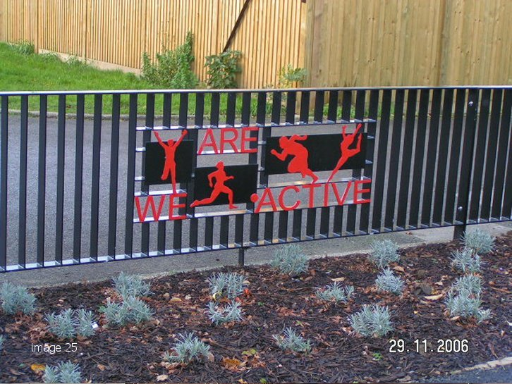 galvanized and powder coated mild steel decorative railings