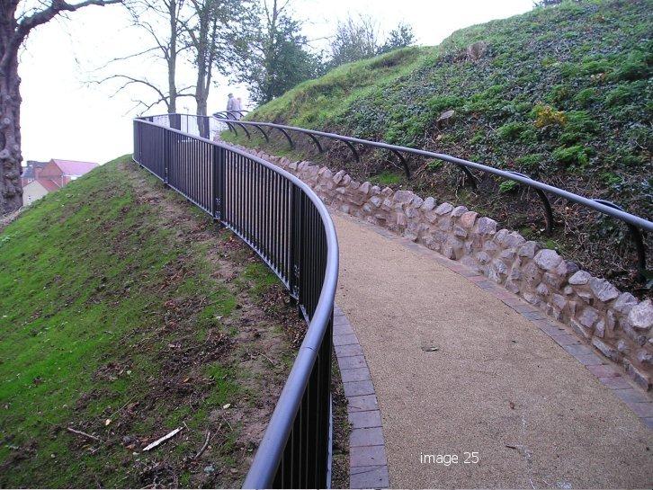 Galvanized and powder coated mild steel decorative handrail