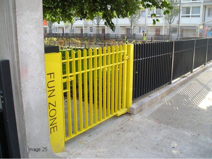 Mild steel flat bar infill style gate