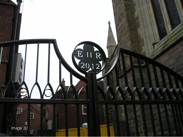 Mild steel decorative gate