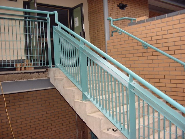 galvanized and powder coated balustrade with handrail