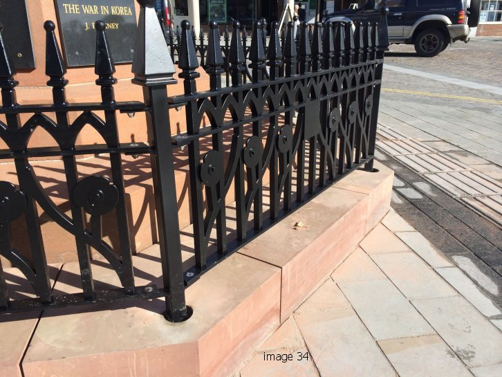 Faceted metal railings