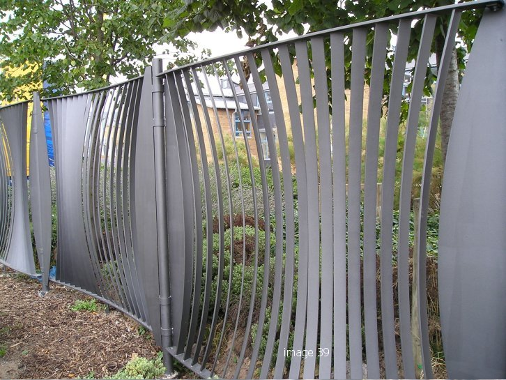 Bespoke school railings, galvanised and powder coated
