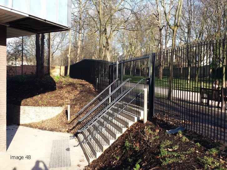 mild steel galvanized and powder handrails to steps