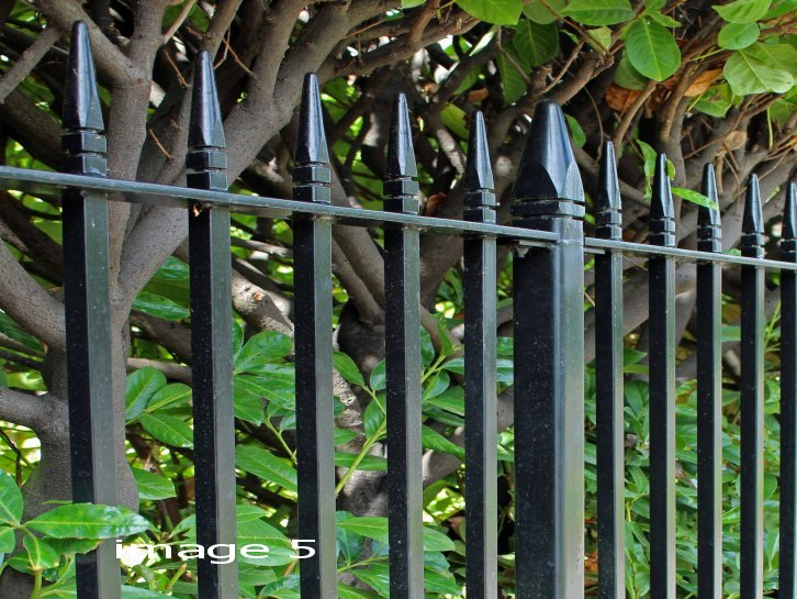 galvanized and powder coated mild steel 'Westminster style' Railings