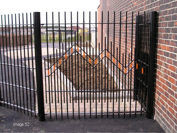 mild steel galvanized and painted decorative vertical bar railings