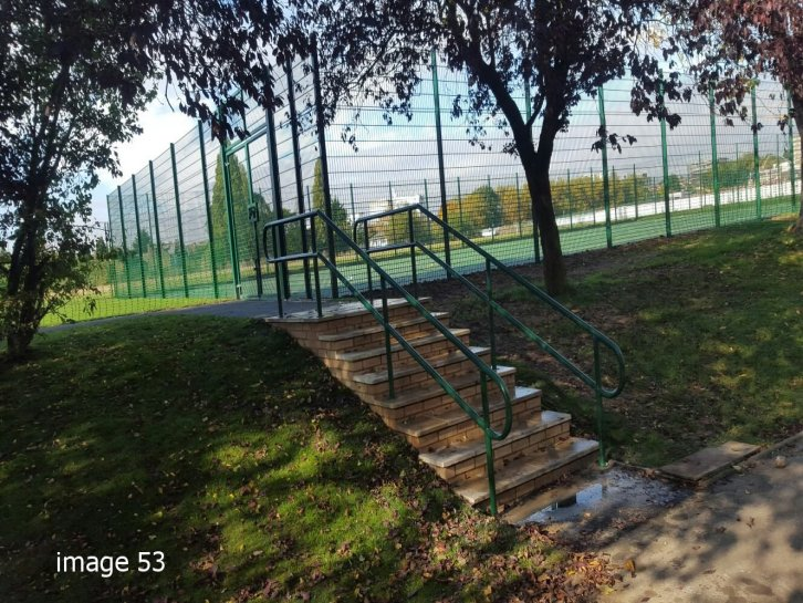 galvanized and powder coated mild steel handrails