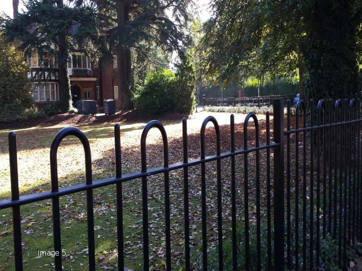 Galvanised and powder coated decorative bow top railings