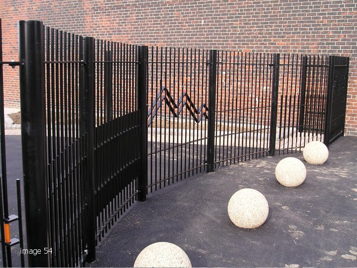 decorative vertical bar railings mild steel galvanized and polyester powder coated
