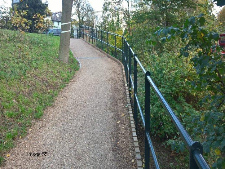 powder coated mild steel double rail handrail