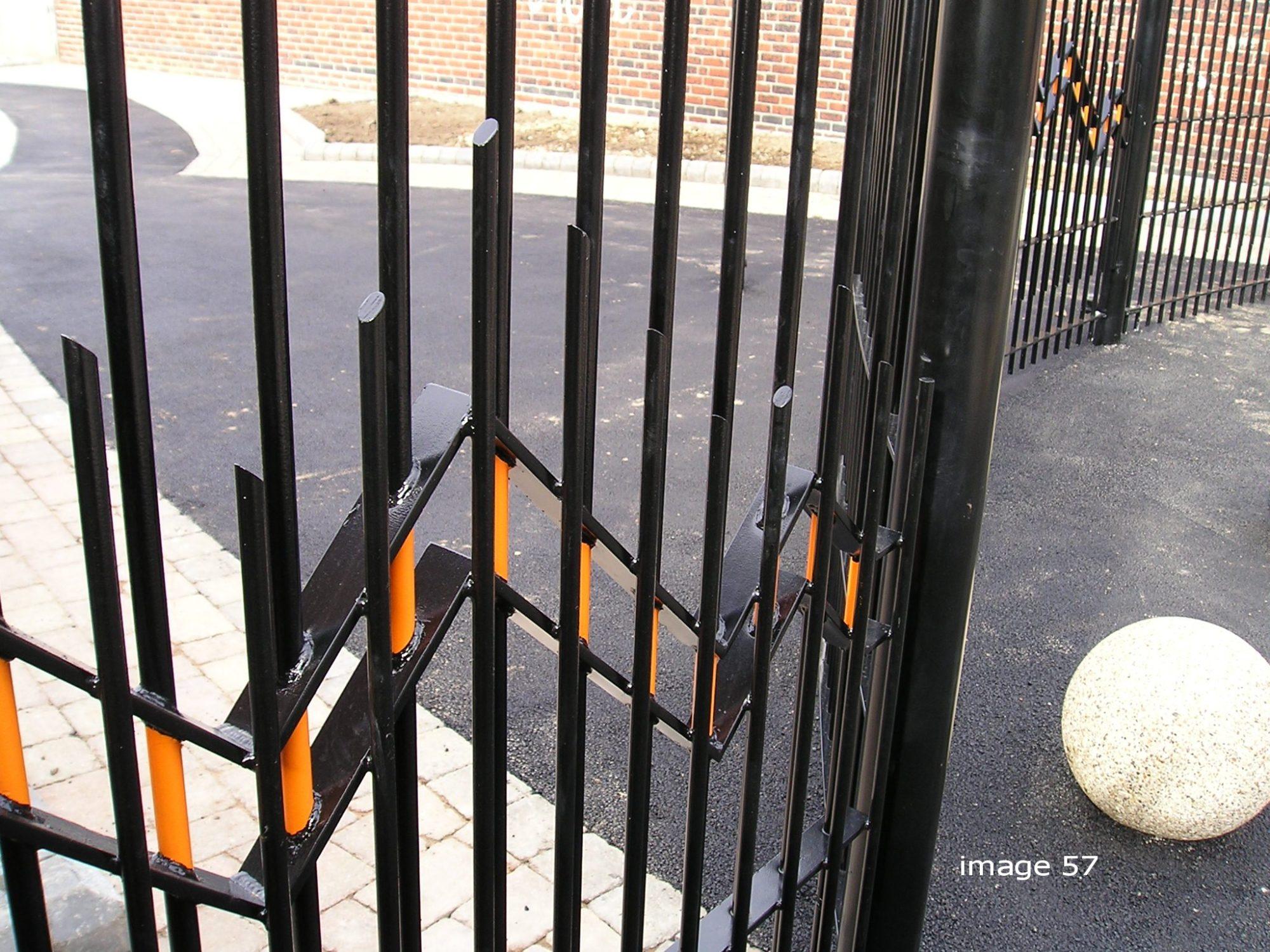 Bespoke decorative vertical bar railings