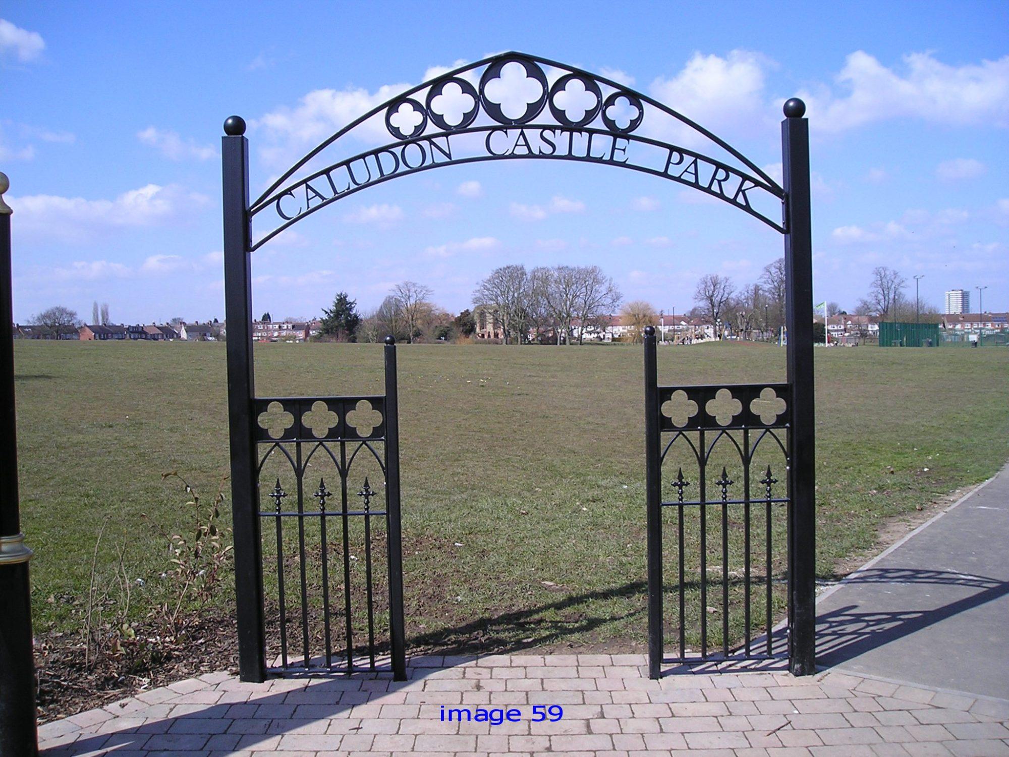 Decorative metal archway